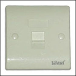 Single Port Face Plate with Shutter (ST)