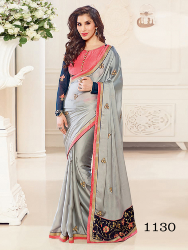 Designer Stylish Latest Georgette Thred Work Saree