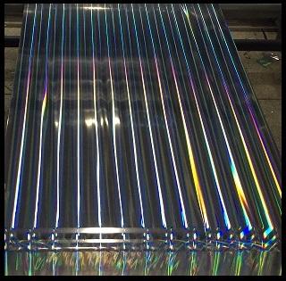 Multi Laser Rainbow Pillar Holographic Films