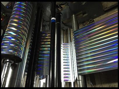 Metalised Rainbow Pillar Hologram Films