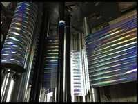 Metalised Rainbow Pillar Hologram Films
