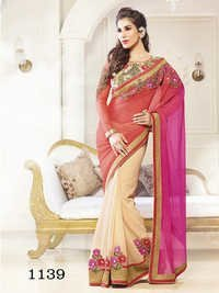 Designer Fancy Stylish Latest Exclusive Party Wear Georgette Saree