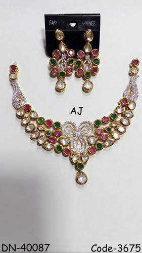 Colour Stone Kundan Bridal Necklace