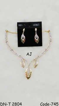 American Diamond Necklace with Meena