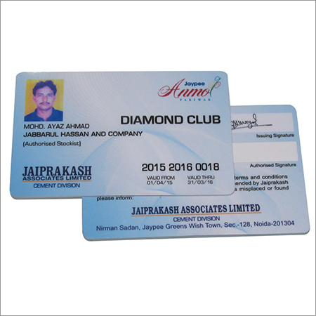 Plastic Club Membership Cards