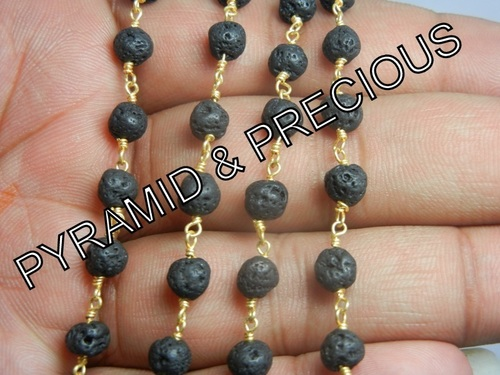 Lava Rosary Beaded Chain