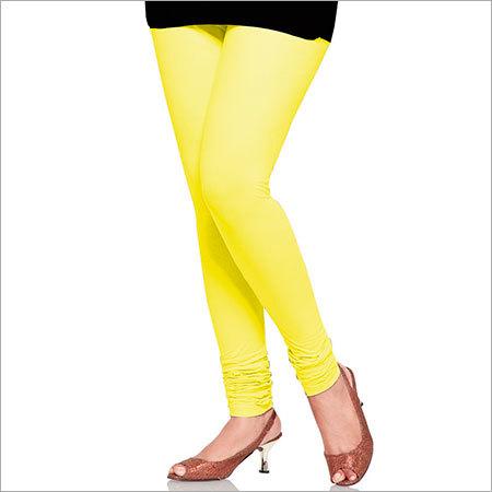 Yellow Color Cotton Leggings