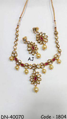 Colour Stone Kundan Necklace