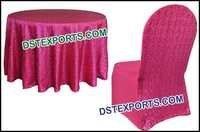 Wedding Glitter Fuchsia Squin Chair Cover