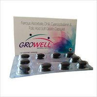 DHA 40% 200 mg + Cynocobalamin 0.0075mg , Foli Acid 1.5mg,Ferrous Ascorbate 50mg