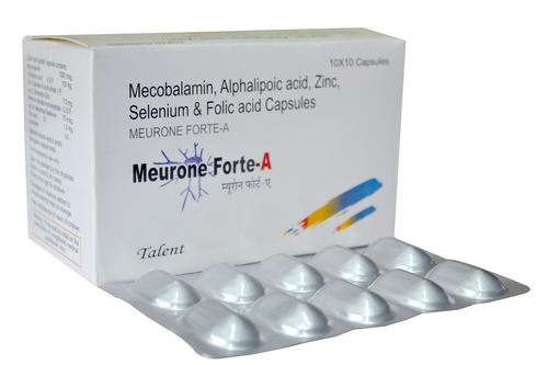 Mecobalamin 1500 mcg +Alphalipoic acid 100 mg +Folic acid 1.5 gm+Zn 7.5 mg + Selenium 70 mcg.