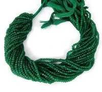 Green Aventurian Faceted Rondelle Beads