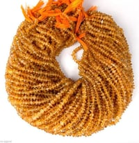 Citrine Smooth Rondelle Beads