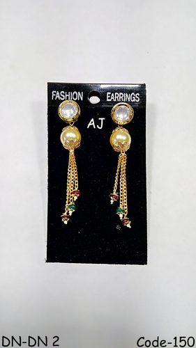 Diamond Pearl Earings