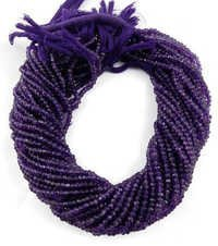 Amethyst Faceted Rondelle Beads