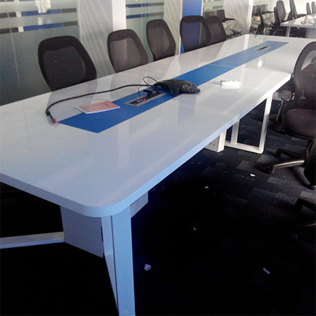 Meeting table with Metal support structure