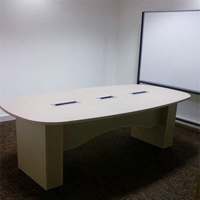 Meeting Table with Wooden Support Structure