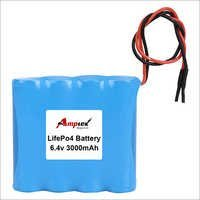 LifePo4 Battery 6.4v 3000mah