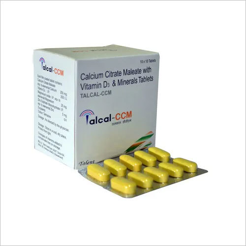 Calcium citrate maleate 250 mg,Vit-D3, 200 I.U , Magnesium 25 mg , ZnSO4 5 mg