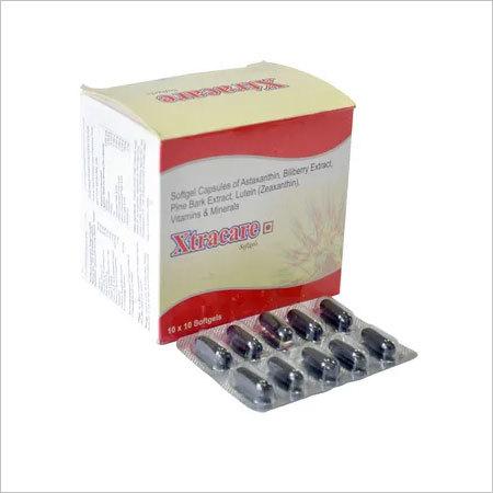 Astaxanthin, Biliberry extract, pine bark extract, lutein (Zeaxanthin), vitamin & minerals