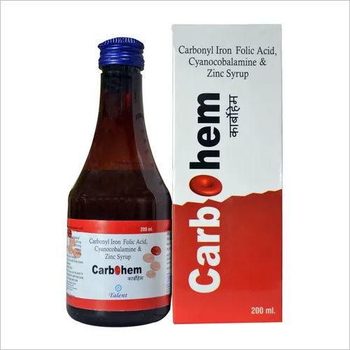 Elemental Carbonyl iron 50mg + Folic Acid 500mcg + Cynocobalamine 6 mcg + Zinc Sulphate 11 mg