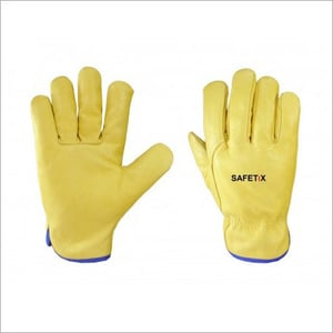 Drivers Yellow 3 Tips Wing Thumb Gloves