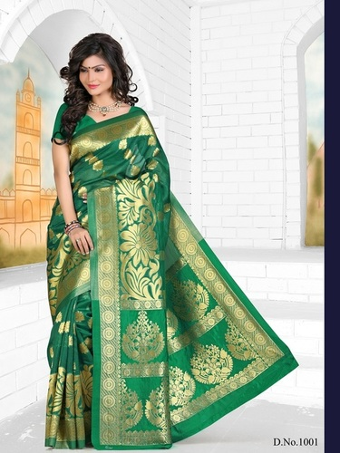 Fancy Designer Stylish Latest Bangalore Silk Saree