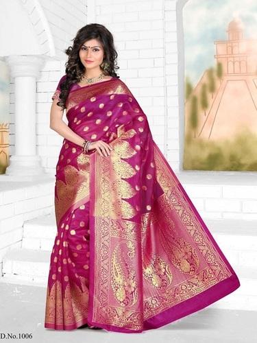 Fancy Designer Stylish Latest Bangalore Silk Saree