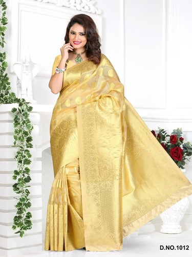 Designer Stylish Latest Exclusive Beige Bangalori Silk Saree