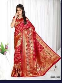 Designer Stylish Latest Exclusive Red Bangalori Silk Saree