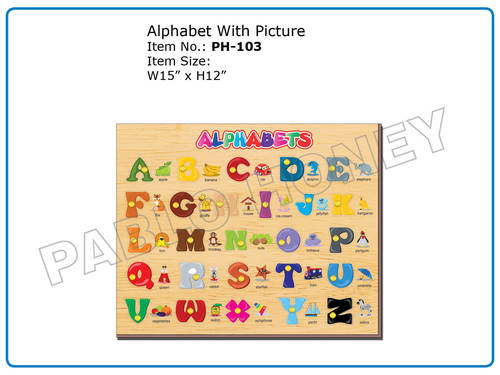 Wooden Alphabet with Picture