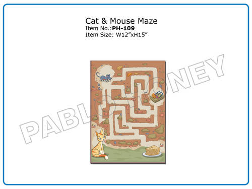 Wooden Cutout Cat & Mouse