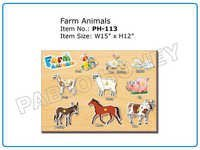 Wooden Cutout Farm Animals