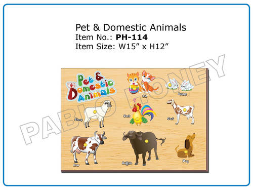 Wooden Cutout Pet & Domestic Animals