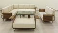 L Wooden Sofa Set