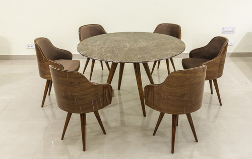 Round Top Marble Dining Set