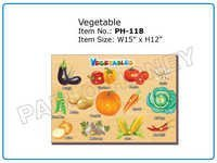 Wooden Cutout Vegetables