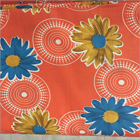 Orange Printed Cotton Fabric