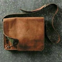 Goat Leather mini laptop bag