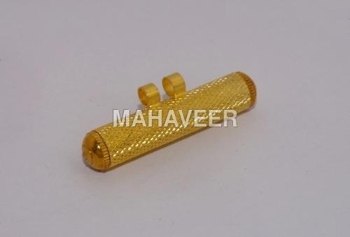 Gold Colour Knurl Amulet