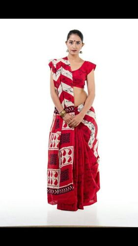 Fancy Printed Cotton Saree