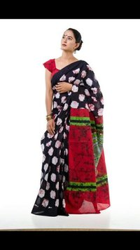 Designer Sanganeri Print Cotton Saree