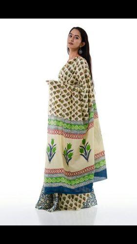 Bagru Print Bordered Cotton Saree