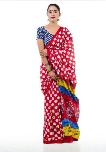 Designer Printed Cotton Saree