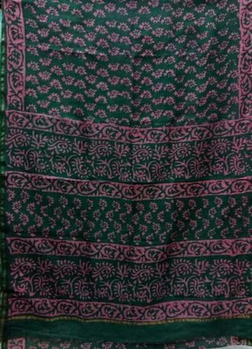 Chanderi Printed Slik Sarees