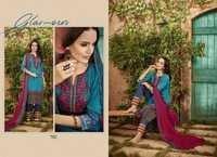 Razia -4 Cotton Pakistani Style Embroidery Suit