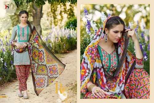 Fancy Designer Latest Cambric Print Salwar Suit