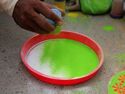 Rangoli Green Color