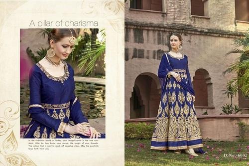Fancy Designer Latest Launch Heavy Bangalore Silk Salwar Suit