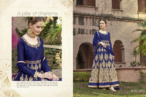 Fancy Designer Latest Launch Heavy Bangalore Silk Salwar Suit